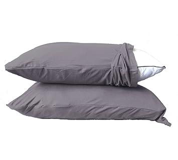 Amazon.com: Exclusivo. Funda de almohada elástica de rayón y ...