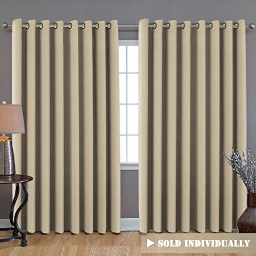 H.Versailtex Blackout Thermal Insulated Room Darkening Extra Long Curtains / Drapes (100