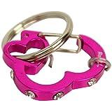 Rubit, LLC RB-637207 The Easy Dog Tag Rhinestone Heart Switch Clip, Medium, 1.07-Inch Diameter, Pink