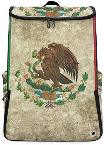 リュック メンズ レディース リュックサック 3way バックパック 大容量 ビジネス 多機能 レトロなメキシコの国旗 スクエアリュック シューズポケット 防水 スポーツ 上下2層式 アウトドア旅行 耐衝撃