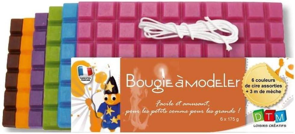 21 x 6,5 x 12 cm GRAINE CREATIVE 138050 Bougie /à Modeler Vive N/° 2 Cire Multicolore