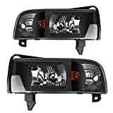headlights for dodge 2500 - AUTOSAVER88 For 94 95 96 97 98 99 00 01 Dodge Ram 1500/2500/3500 Headlight Assembly,OE Projector Headlamp,Black housing,One-Year Limited Warranty(Pair)