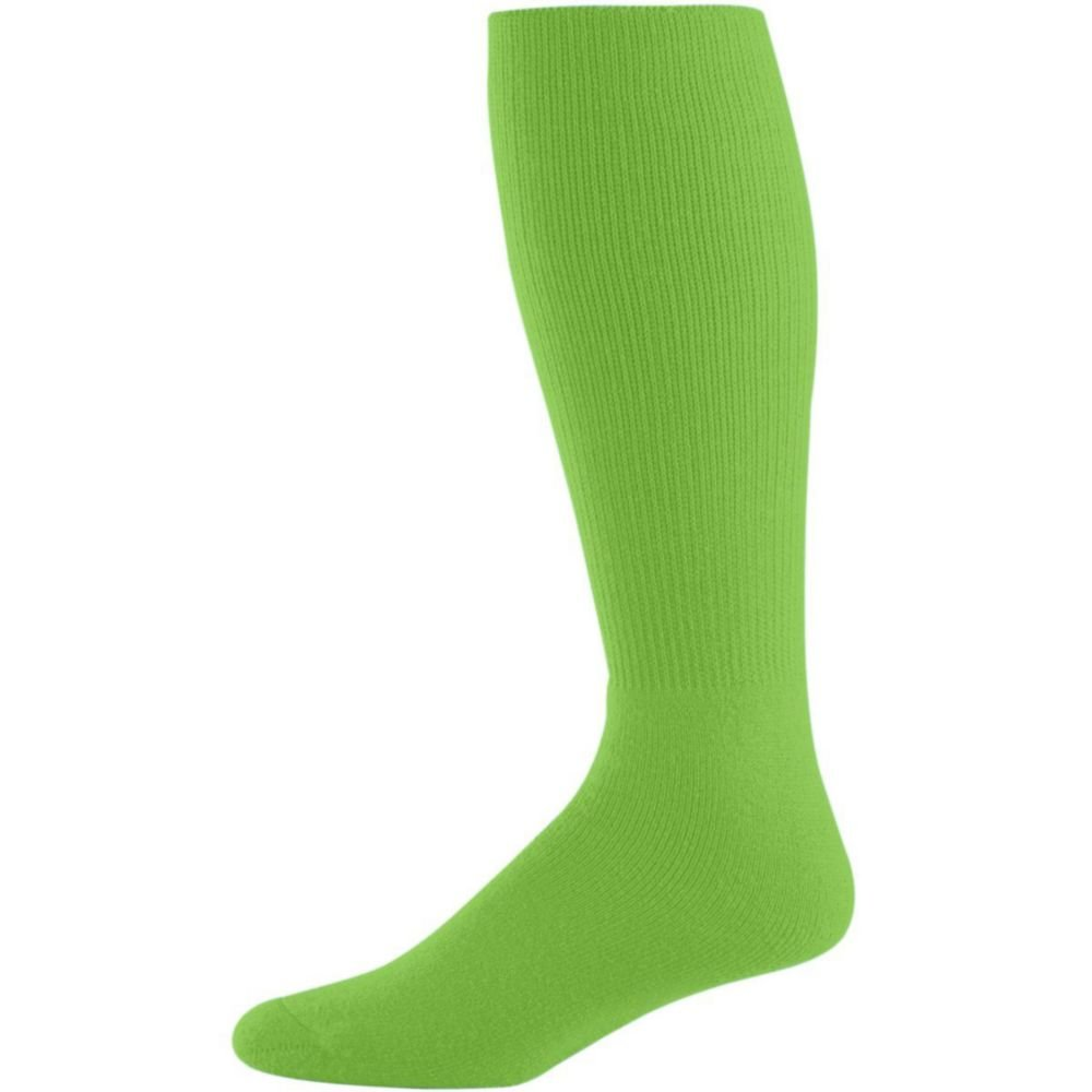 Augusta Activewear Athletic Socks -Youth, Lime, 7-9