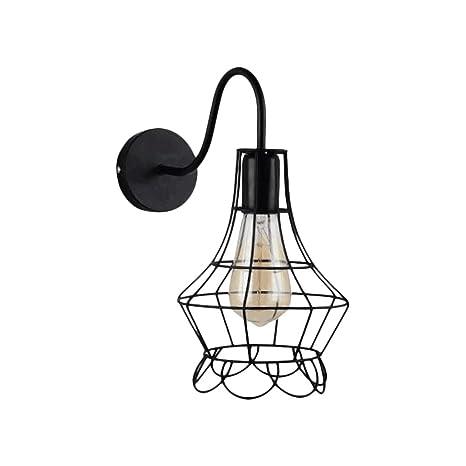 Moderna lámpara de pared minimalista, jaula para pájaros, lámpara ...