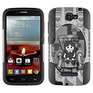 Alcatel One Touch Fierce 2 Hybrid Case Bloody Teddy 2 Piece Style Silicone Case Cover with Stand for Alcatel One Touch Fierce 2