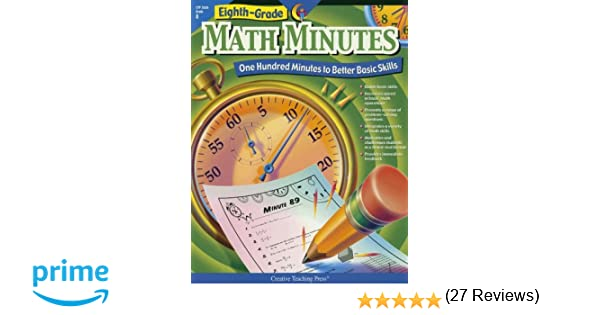 Amazon.com: Eighth Grade Math Minutes (0030554026362): Doug ...