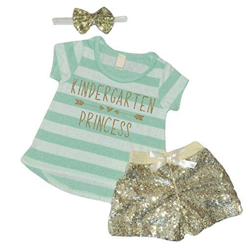 1st Day of Kindergarten Shirt, Girls Kindergarten Clothes, Back to School Shirts for Girls, Kindergarten Princess (4T)