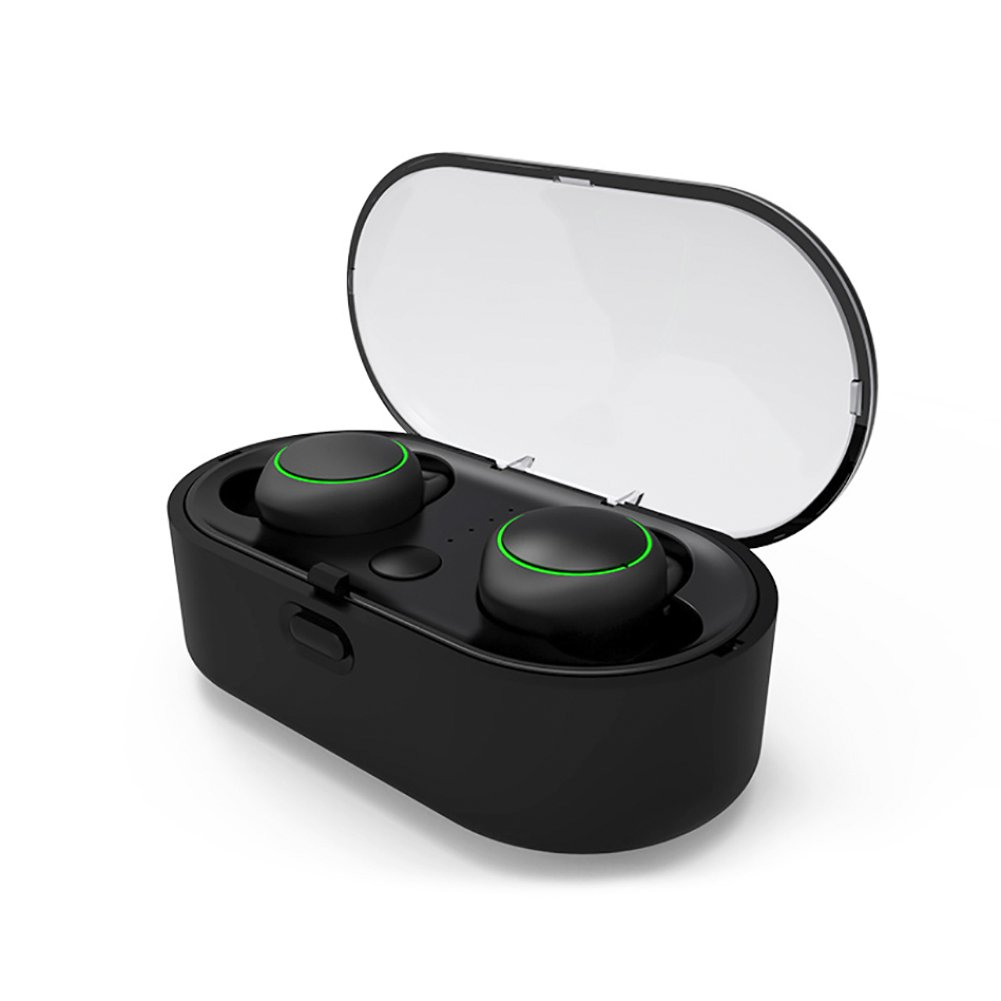 True Wireless Earbuds,Stereo Bluetooth in Ear Earbuds,Noise Cancelling Mini Headphones,Built-in CVC6.0 chip. Portable Charging Case Built-in Microphone, for iOS and Most Android Phones