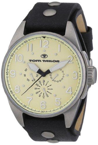 TOM TAILOR Herren-Armbanduhr XL Analog Quarz Leder 5405905