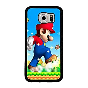 Samsung Galaxy S6 case Anime Super_Mario_Bros Cartoon Anime Comics Character Disney for girls Theme Design Hard Plastic Durable Snap on Accessories Protective Case Cover for Samsung Galaxy S6