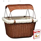 Pet Dog Bike Basket , Cycle Dog Carrier , Road Bicycle Wicker Doggy Storage , Puppy Basket Mount Rack & eBook by Easy2Find