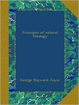 Book Principles of natural theology
