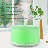 Essential Oil Diffuser 450ml Aromatherapy Diffusers For Essential Oils Neloodony Cool Mist Humidifiers With 8 Color LED Lights,Waterless Auto Shut-off,Adjustable Mist Mode & 4 Timer Setting For Home