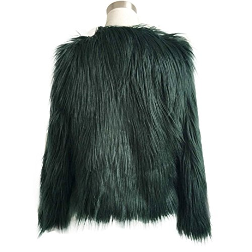 Coat Warm Giacche Overcoat Faux Winter Cappotto Da Fur Giacca Nuovo Cappotti Outerwear Green Di Koly Parka Donna Del Signore E Jacket Pelliccia Army Invernale Delle Long UfHqgwA