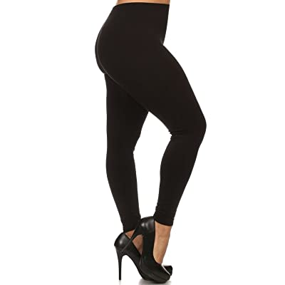 Always Plus Size Solid Color Buttery Soft Full Length Leggings - 7+ Colors!
