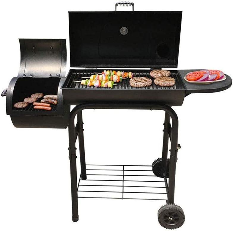 LKNJLL BBQ Grill with Offset Smoker