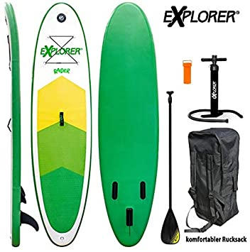 Explorer Sup Raider 300 x 75 x 10 cm Inflatable ISUP hinchable de aluminio Remo Stand Up Paddle Board Set Bomba Tabla de Surf Aqua Remo Set: Amazon.es: ...