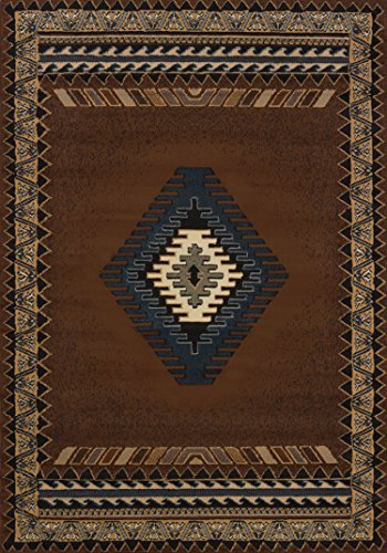 United Weavers Manhattan Collection Tucson 5-Feet 3-Inch by 7-Feet 6-Inch Rug, Brown