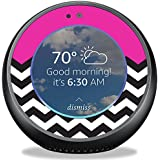 MightySkins Skin For Amazon Echo Spot - Hot Pink Chevron | Protective, Durable, and Unique Vinyl Decal wrap cover | Easy To Apply, Remove, and Change Styles | Made in the USA
