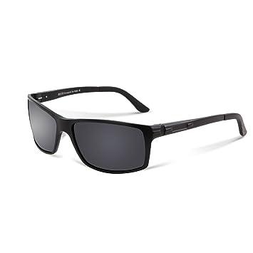 96eb54383b DUCO Polarized Sports Sunglasses Driver Glasses 9018 Black Frame Grey Lens