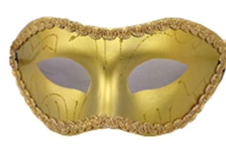 Cdet Máscara carnaval de Venecia Venecia bola sección ojo hermosa máscara original de moda,Oro