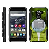 TurtleArmor | Alcatel A30 Fierce Case | Alcatel Walters | Alcatel REVVL [Hyper Shock] Armor Hybrid Cover Kickstand Impact Holster Belt Clip Sports and Games Design - Golf Ball Tee
