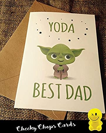 Funny Rude Cheeky Die Koteletts Karten Vatertag Geburtstag Yoda