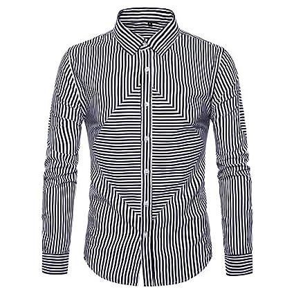 e0b2a24331 Amazon.com : IYFBXl Men's Basic Shirt - Striped : Clothing