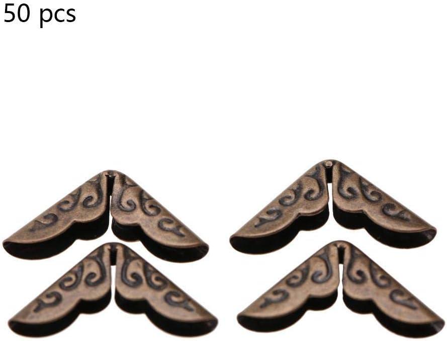 50 unids Scrapbooking Montaje de esquinas Montaje de esquinas /Álbumes Men/ús Carpeta de archivos Protectores de esquinas de archivos Bronze