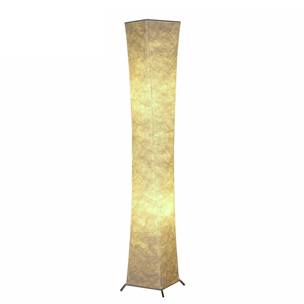 LexonElec Soft Light Floor Lamp, SF211-107 Modern Design Fabric LED Floor Lamp with Shade and 2 Bulbs for Living Room Bedroom Study Hotel Room - 51 inch Tall Lamp (W8×H51 Inch Warm White Light)
