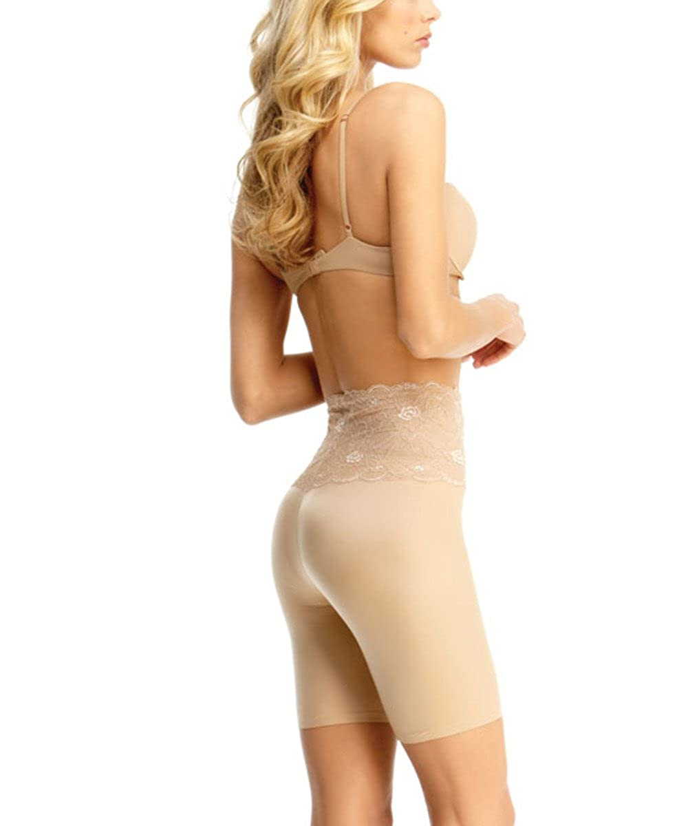 c5a7d84bef SlimLuxe By MeMoi womens Shaper Lace Mid Thigh   SLU-108 at Amazon Women s  Clothing store  Thigh Shapewear