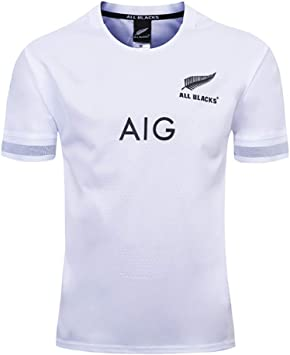 AFDLT Hombre Rugby Jersey World Cup 2019-20 All Black Home/Away ...