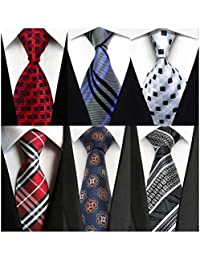 6 PCS Classic Men's Neckties Woven Jacquard Neck Ties For Men Set