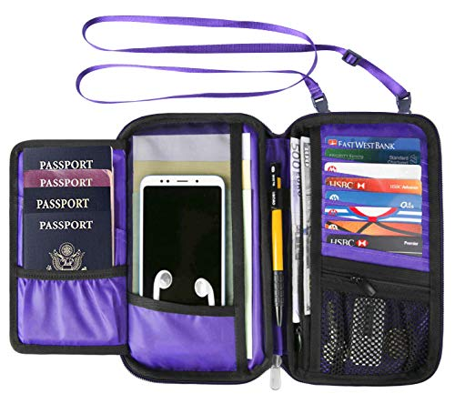 RFID Travel Wallet Passport Holder Neck Pouch for Men and Women ()
