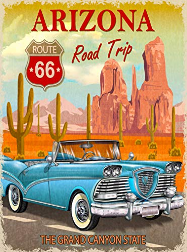 (A SLICE IN TIME Arizona Route 66 Road Trip The Grand Canyon State United States Retro Travel Home Collectible Wall Decor Advertisement Art Deco Poster Print. 10 x 13.5)