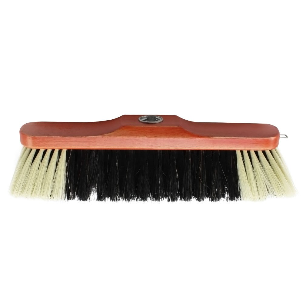 COM-FOUR® beech wood broom with horsehair mixture, 30 cm (Room brush - 01 pieces)