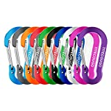 Carabiner Clip,Aluminum D-ring Locking Carabine Flat D-Shape Lock Snap Backpack Water Bottle Keychain Climbing Gear Accessories EDC Camping Tent Multi Function Tool Multiple Colors 10 Color GL7