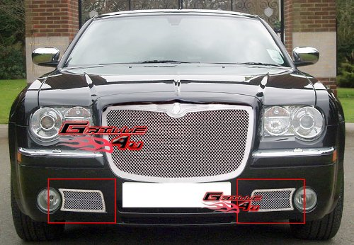 (APS Fits 05-10 Chrysler 300C Lower Bumper Stainless Mesh Grille Insert #R75309T)