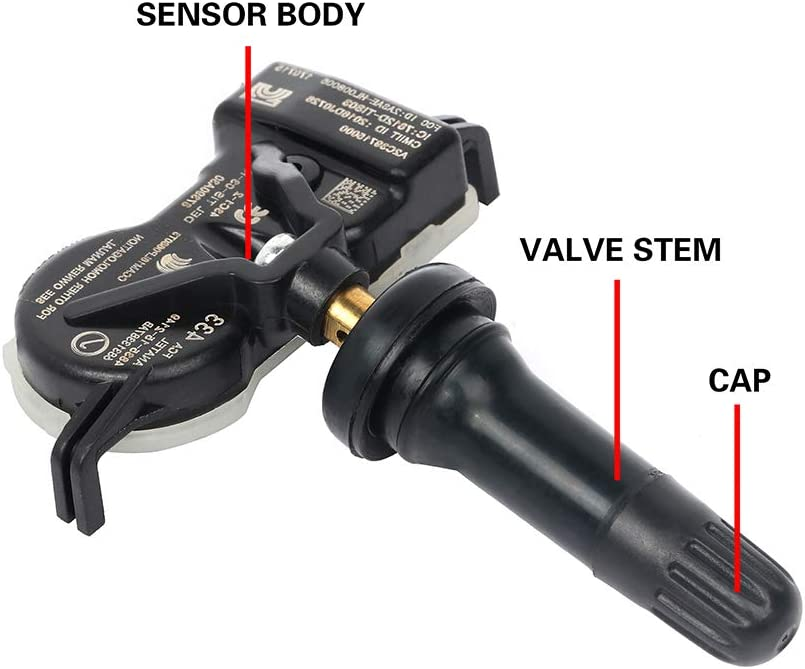cciyu Fits for 2015-2017 Chrysler 200 2016-2018 Dodge Durango 2015-2017 Jeep Renegade Original Equipment Programmed Tire Pressure Monitoring System Sensor TPMS 433MHz 68313387AB 4pcs