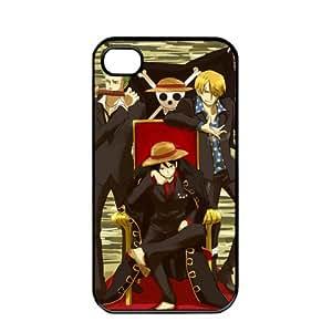 One Piece popular Anime Manga Cartoon Monkey D. Luffy Roronoa Zoro Sanji Comic iPhone4 4S Soft Black or White case (Black)