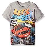 Blaze and the Monster Machines Toddler Boys' Short Sleeve T-Shirt Shirt, Heather Grey, 4T