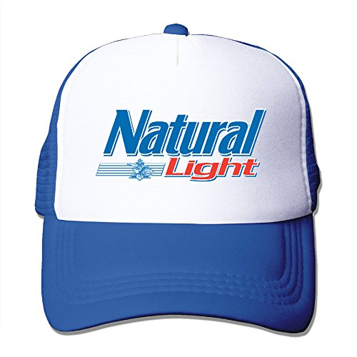 Natty Light - Adult Natural Light Logo Adjustable Mesh Hat Trucker Baseball Cap RoyalBlue