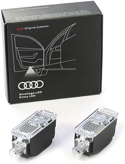 Audi 4g0052133k Einstiegsleuchten Led Projektion Einstiegsbeleuchtung Projektor Ringe Mit Gecko Auto