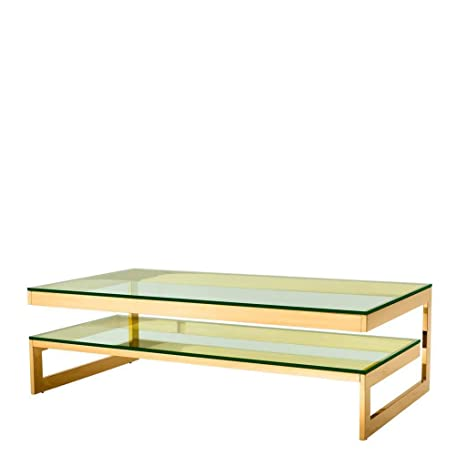 Amazon.com: Two Level Gold Coffee Table | EICHHOLTZ Gamma ...