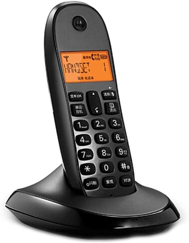 BJYG Teléfono inalámbrico Teléfono inalámbrico Identificador de Llamadas Oficina en casa Teléfono inalámbrico Fijo Teléfono Fijo(de Color Negro): Amazon.es: Hogar