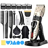 Hair Clippers for Men, DUSASA Professional Cordless Hair Trimmer IPX7 Waterproof USB Rechargeable...