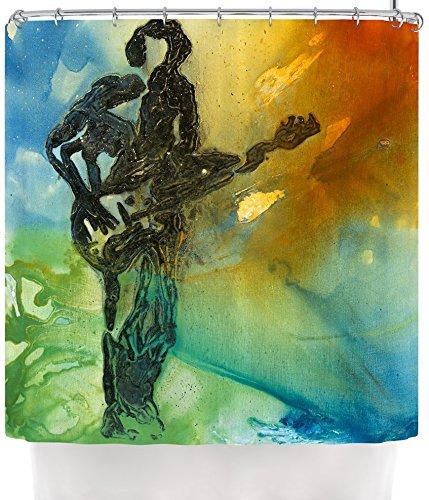 KESS InHouse Josh Serafin Rhythm Guitar Player Shower Curtain, 69 by 70-Inch
