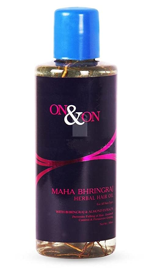 d4e9e2042a Buy On & on Maha Bhringraj Herbal Hair Oil - Pack of 2 Online at Low Prices  in India - Amazon.in
