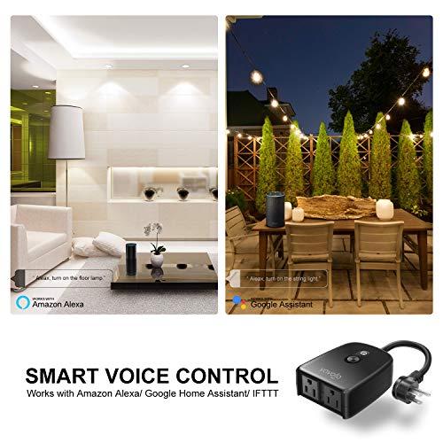 WIFI Outdoor Smart Plug Outlet Waterproof Wireless Power