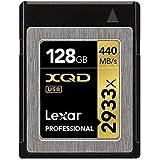 Lexar LXQD128CRBEU2933 Professional 2933X XQD 2.0 Scheda di Memoria da 128 GB, Nero/Giallo
